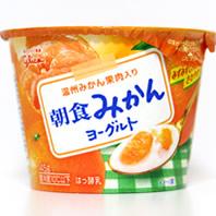 朝食みかんヨーグルト